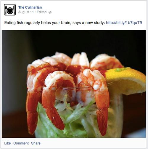 写真のキャプションにURLを埋め込んだ例(Facebook Newsroomより)