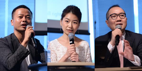 左から、電通 神内一郎氏、GlassView Japan 岩本香織氏、アクセンチュア・インタラクティブ 浦辺佳典氏