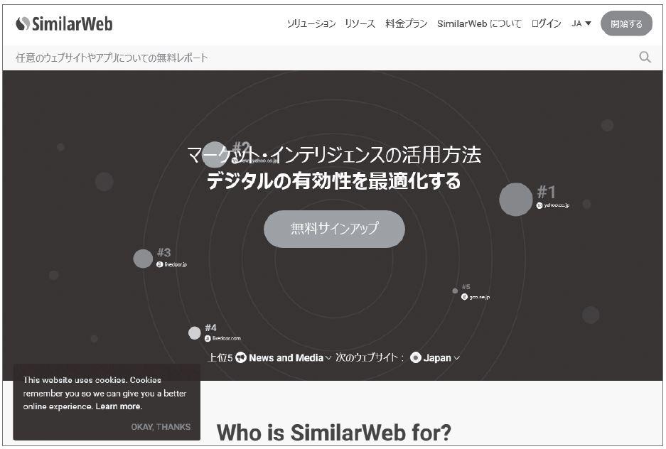 図3-10 SimilarWeb